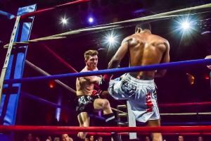 Brandon landing a powerful kick