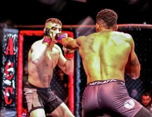 Codie Payne jabs opponents Joseph Solecki