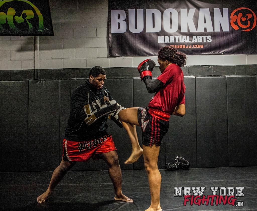 Taneisha and Muay Thai coach, Kevin Smith