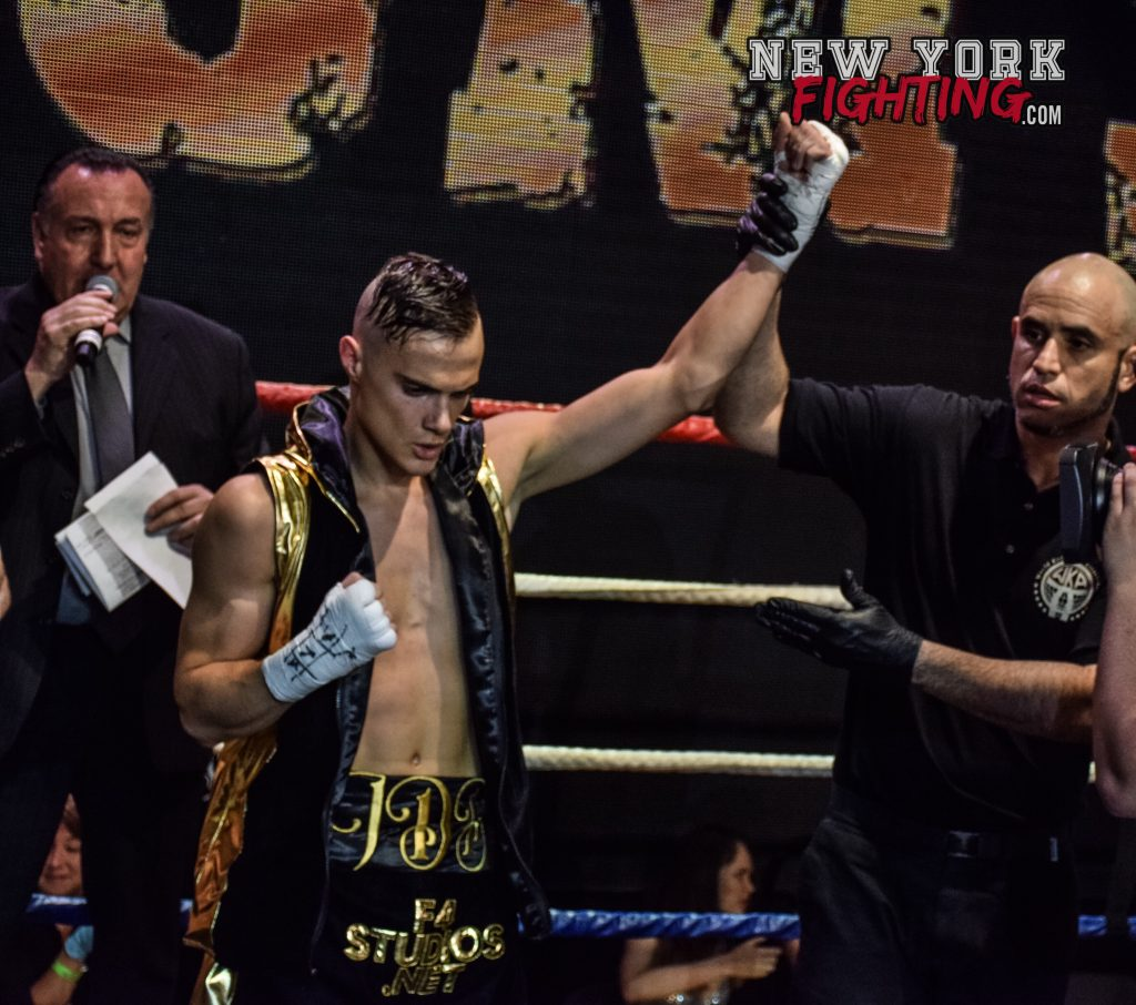 Victory in his pro debut at Battle of the Millennium 3