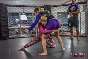 Heather Hardy training at Renzo Gracie Academy under Rolles Gracie