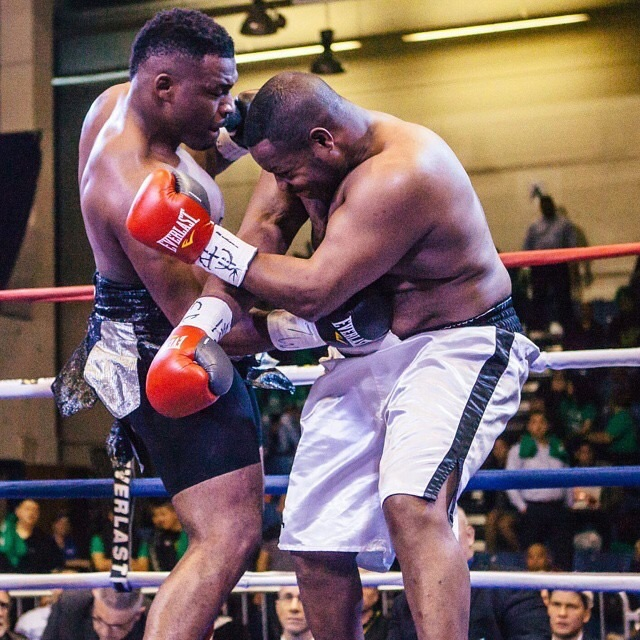 Big Baby landing a devastating body shot on Damon McCreary. Photo Credit Anthony B Geathers